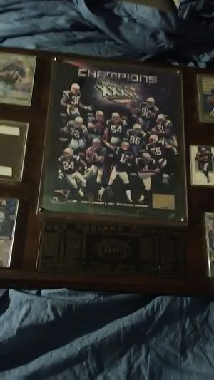 NEW ENGLAND PATRIOTS SUPER BOWL XXXVI WIN PLAQUE for Sale in Yardley, PA