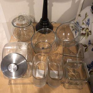 Glassware for vases, storage, candy, etc for Sale in Alexandria, VA