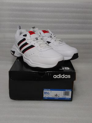 Adidas sneakers. Size 11.5 men's shoes. White leather. Brand new in box for Sale in Portsmouth, VA