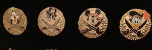 Set of 4 cast member only Disney pin trading gold coin pirate pins for Sale in Cary, NC
