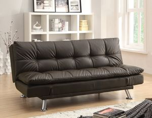 Brown Leather Futon Sofa Bed for Sale in San Francisco, CA