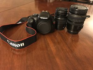Canon Rebel T3 with lenses for Sale in Milwaukee, WI