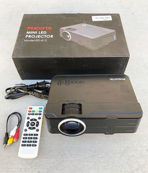 "(NEW) $60 PHOOTA Mini Home Theater Projector 2400 Lux, Full HD 1080P, 170"" Display (DMI, VGA, USB, AV, Laptop) for Sale in Whittier, CA"