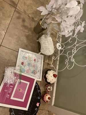 Decor - cupcake, princess, pink, white, ballerina, tutu for Sale in Phoenix, AZ