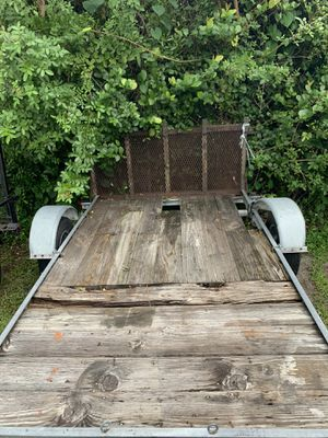 Trailer with foldable gate ( Ramp ) for Sale in West Palm Beach, FL