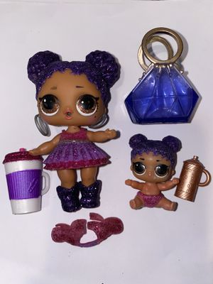 "Lol doll ""purple queen "" and lil sis for Sale in Gresham, OR"