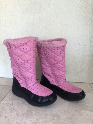 Boots Girls Size L 4-5 Purple used for Sale in Hollywood, FL