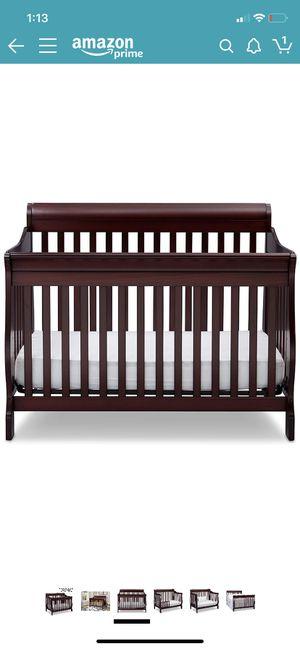 Delta Children Canton 4-in-1 Convertible Baby Crib, Espresso Cherry for Sale in Franklin, TN