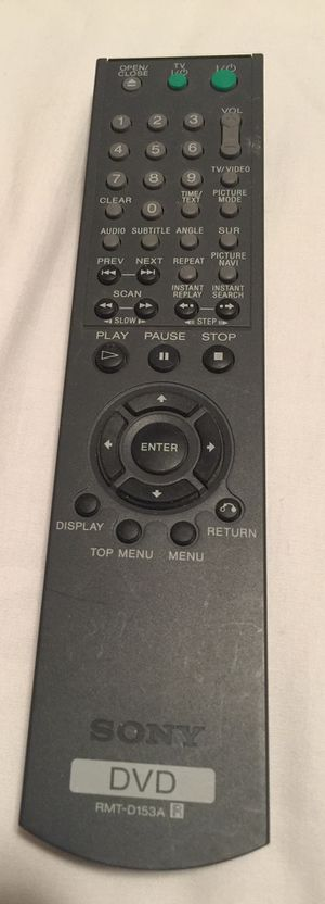 SONY DVD REMOTE CONTROL RMT-D153A for DVD VIDEO PLAYERS-NS425 NS425P NS725 NS725P USED for Sale in East Cobb, GA
