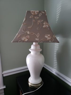 Lamp with embroidered fabric shade for Sale in Washington, DC