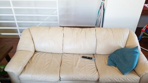 Off-White Leather Couches for Sale in Hermosa Beach, CA