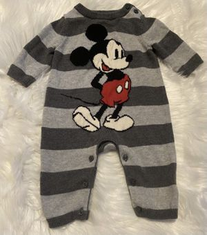 Gap Disney Baby Mickey Jumpsuit Size 0-3 Months for Sale in Portland, OR