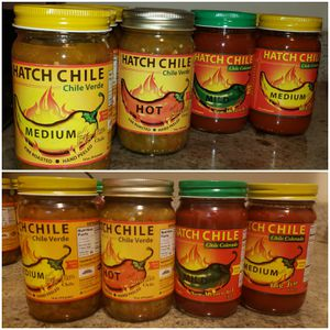 HATCH CHILE - SALSA VERDE & CHILE COLORADO - MILD MEDIUM HOT - NEW & SEALED - PICK UP NORTHSIDE for Sale in Chicago, IL