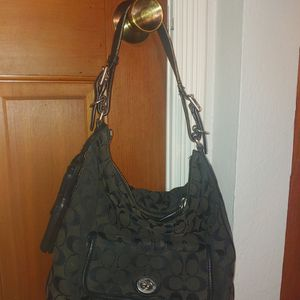 COACH LEGACY OP ART Canvas & Leather Bag for Sale in Brier, WA