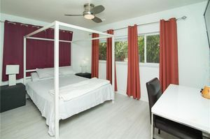 2 pairs of red blackout curtains for Sale in Fort Lauderdale, FL
