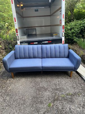 PENDING PICK UP Mid century style futon sofa for Sale in Portland, OR