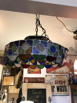 20x9 antique vintage stained glass multi colored light fixture 45.00. Johanna. Furniture collectibles sterling silver please text to be sure it's sti for Sale in Austin, TX