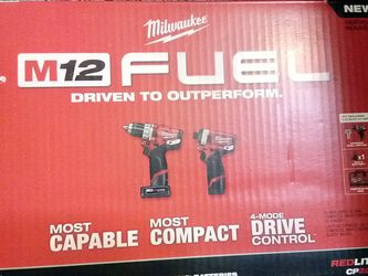 Milwaukee M12 Fuel 12 Volt Lithium Lon Brushless Cordless Hammer Drill And Impact Driver Combo Kit for Sale in Sloan,  NV