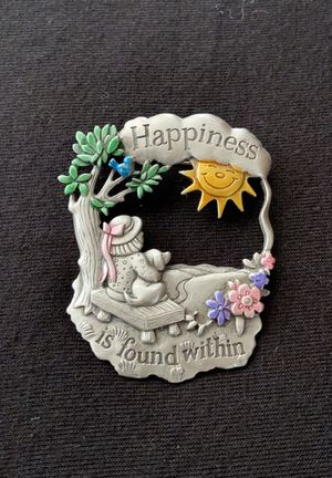 Vintage Signed JJ Artifacts Happiness Brooch for Sale in Williamsport, PA