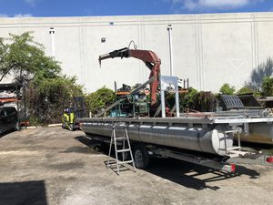 Barge with knuckle boom for Sale in Pompano Beach, FL