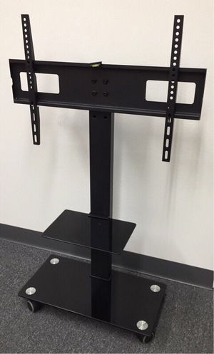 New in box 11x26x43 inches tall 32 to 65 inches tv television stand with wheels 90 lbs capacity for Sale in La Mirada, CA