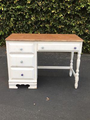 Vintage Bassett Shabby Chic Farmhouse Wood Desk Vanity for Sale in San Dimas, CA