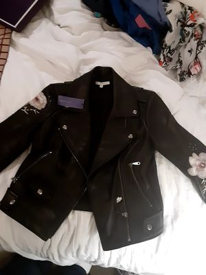Rebecca's minkoff leather jacket brand new XS for Sale in Medina, WA
