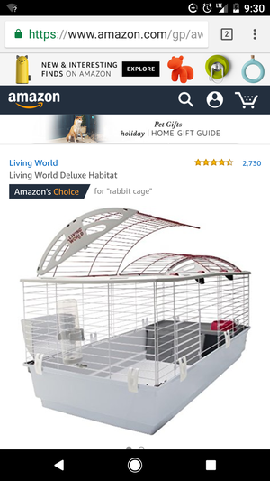 Rabbit cage used for only a couple months for Sale in Georgetown, KY