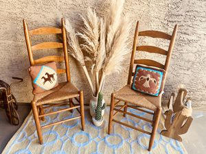 Two Vintage Wicker And Wooden Chairs for Sale in Baldwin Park, CA