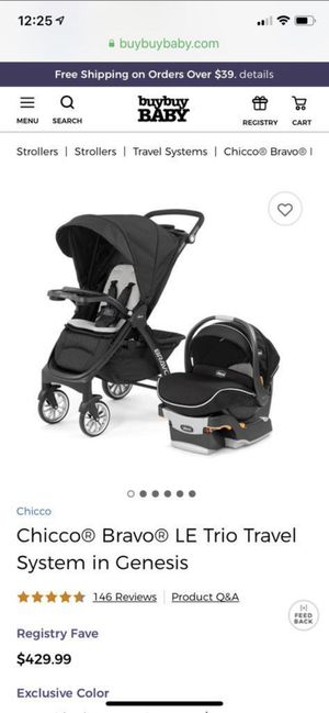 Chicco brabo travel system (car seat and stroller) for Sale in Acworth, GA