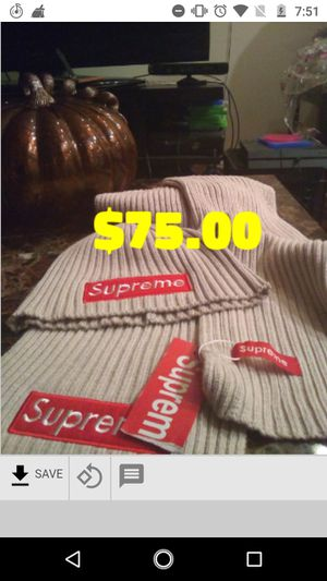 Louis Vuitton Supreme Hat and Scarf for Sale in Chicago, IL