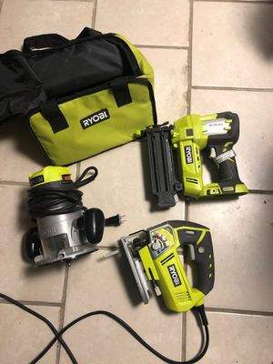 Ryobi tool bundle with carry bag for Sale in Clifton, NJ