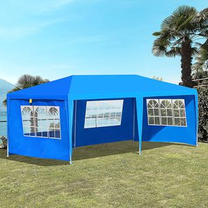 10' x 20' Gazebo Canopy Party Tent with 4 Removable Window Side Walls,Wedding, Picnic Outdoor Events- Blue for Sale in Los Angeles, CA
