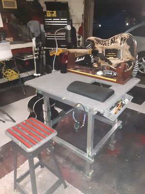 Custom Built Guitar Repair Table and Stool. Luthier Table for Sale in Phoenix, AZ