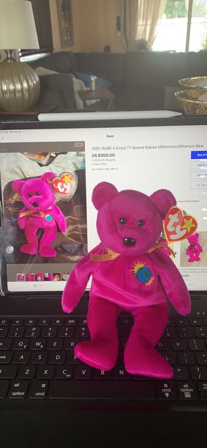 Rare TY beanie babies millennium bear for Sale in Queens, NY
