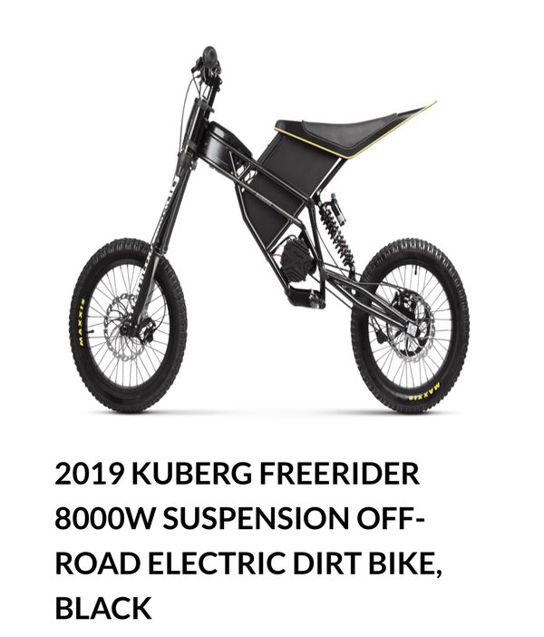 Kuberg electric dirt bike $2495 or trade for small pedal assist mountain bike form wife this one has too much power for her