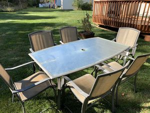 Table and six chairs for Sale in Mount Laurel Township, NJ