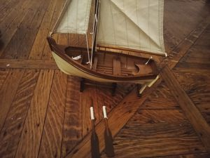 """1' tall 11"""" long Handmade sailboat signed for Sale in Cambridge, MA"""