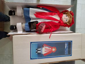 New porcelain collector little red riding hood doll for Sale in Royal Palm Beach, FL