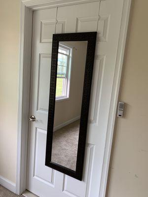 Long mirror with door handle Brown frame for Sale in West McLean, VA