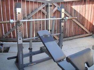 Olympic weight bench for Sale in Moreno Valley, CA