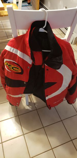 Women's medium Polaris snowmobile jacket and ski pants and a matching helmet all medium for Sale in Gilmanton, NH