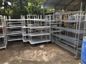 Metal Shelving, Metal Shop Tables, and Lockers for Sale in Houston, TX