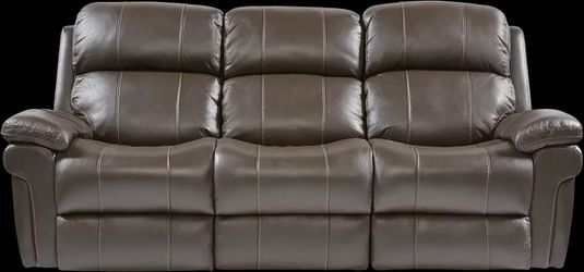 Trevino Leather Dual Power Reclining Sofa for Sale in St. Petersburg,  FL