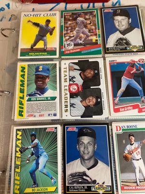 Whole bunch of 1991 baseball cards with Nolan Ryan, Bo Jackson, Griffey jr for Sale in Bonney Lake, WA