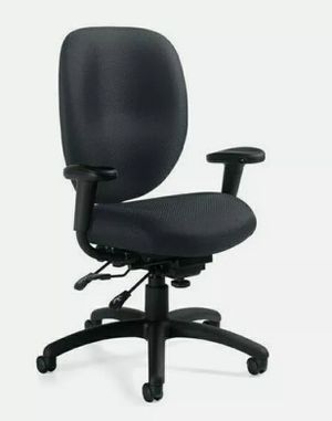 New Offices to Go Multifunction Office Chair with Arms in Black for Sale in Vista, CA