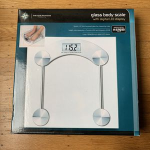 Tradewinds Glass Body Bathroom Scale with LCD Display for Sale in San Francisco, CA