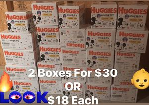 Huggies Snug & Dry Boxes for Sale in Cleveland, OH
