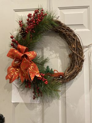 Christmas door wreath for Sale in Graham, WA
