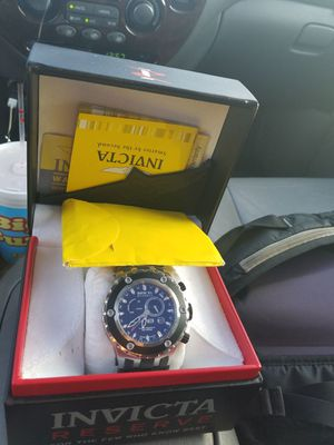 invicta reserve collection chronograph model 6203 Swiss made rare watch for Sale in Sunbury, OH